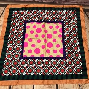 Marni Silk Scarf 24x24 Vibrant Colors Geometric
